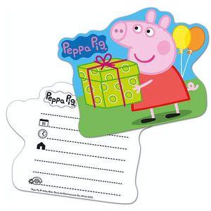 Einladungskarten | 6 Stück | Peppa Wutz | Peppa Pig | Kinder Party Geburtstag