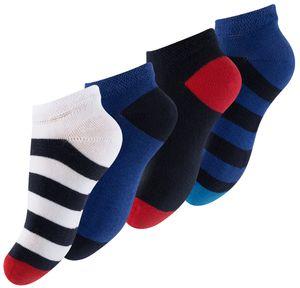 """Cotton Prime® Kinder Sneaker Socken """"Maritim"""" 8 Paar Bunt 35-38"""