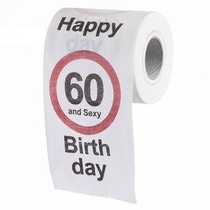 """Lustiges Fun Klopapier zum 60. Geburtstag Toilettenpapier Geschenkartikel Geburtstags-Dekoration """"60 und y!"""""""