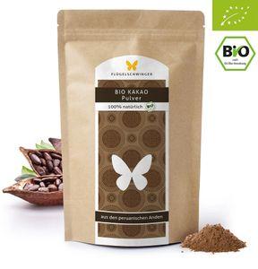 1kg Kakao Pulver aus biologischem Anbau DE-ÖKO-006, 100% natürlich, ohne Zusätze, aus biologischem Anbau, 100% Kakao aus den peruanischen Anden, stark entölt, 11% Fett (1000g)