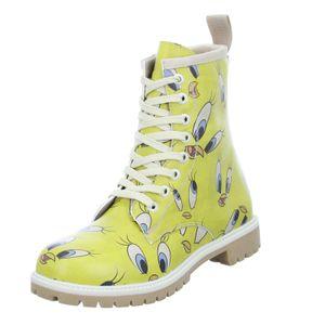 DOGO Damen Stiefel Tweety in Yellow Gelb