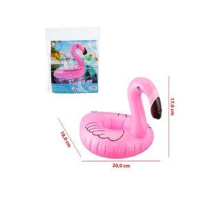 4er Set Flamingo Getränkehalter Pool Party Getränkekühler Aufblastier