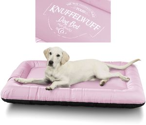 Knuffelwuff Wasserfestes bedrucktes In und Outdoor Hundebett Avery aus Nylongewebe XXL 120 x 85cm Rosa