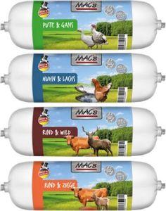 4 x 400 g MAC's Hundewurst 4 verschiedene Sorten