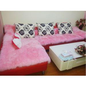 40x90cm Künstliche Wolle Teppich Fluffy Floor Teppich Matte Stuhl Sitzkissen Rosa