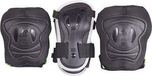 K2 Protektoren Schutzausrüstung Junior EXO 4.1 Jr.Padset Blk/Org Knieschoner In Schwarz für Kinder Größe S