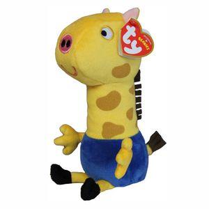 Auswahl Plüsch-Figuren Beanie Babies   Peppa Wutz   Peppa Pig   15 cm Softwool, Figur:Gerald Giraffe