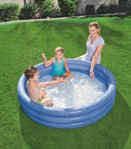 Bestway Planschbecken 3-Ring Pool Farbe: Blau