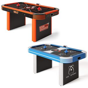 Sportime® LED-Airhockey-Tisch 5,5 ft, Ice Storm Blau