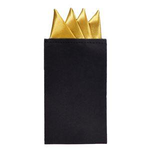 DonDon Herren Einstecktuch vorgefaltet für den perfekten Sitz - Gold