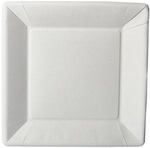"PAPSTAR Papp-Teller ""pure"" eckig 225 x 225 x 18 mm weiß 50 Stück"