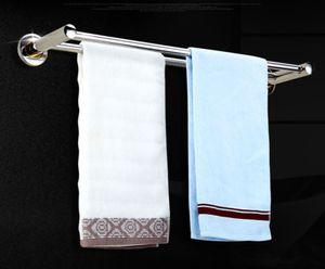 Edelstahl 60cm Dual Handtuchstange Handtuchhalter Wandmontage Bade Tuchhalter