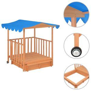 vidaXL Kinderspielhaus mit Sandkasten Tannenholz Blau UV50