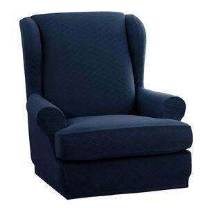 Sofabezug 1-Sitzer Sesselbezug Sofahusse Sesselhusse elastische Sofa Überwürfe Dunkelblau wie beschrieben
