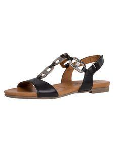 Tamaris Damen Sandale schwarz 1-1-28163-24 weit Größe: 37 EU