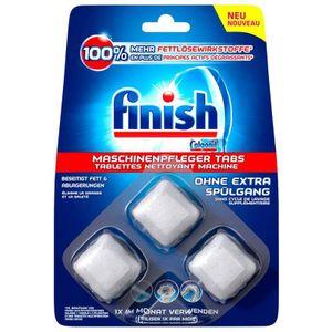 Finish Spülmaschinen-Pfleger-Tabs bekämpft Fett & Ablagerungen 3er Pack (3 x 3 Stück)