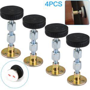 Bettrahmen Anti Shake Werkzeug, 4 Stück einstellbare Kopfteil-Stopper mit Gewinde für Anti-Shake Fixierer für Raumwände Betten Schränke Sofas (84-110mm)
