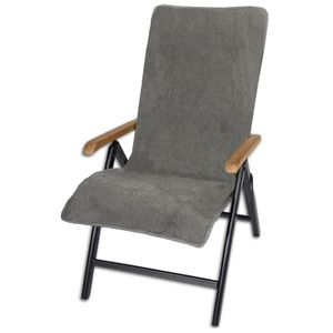 Frottee Schonbezug für Gartenstühle Gartenstuhl Frotteebezug von JEMIDI Auflage Schonauflage Bezug Auflagenbezug Anthrazit