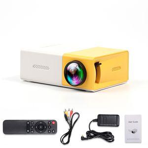 Mini-Projektor Tragbarer Videoprojektor Filmprojektor fuer den Aussenbereich mit HD-USB-AV-Schnittstellen Fernbedienung 400 Lux LED-LCD-tragbarer Heimkino-Projektor fuer Video-TV-Filmparty-Spiel Unterhaltung im Freien