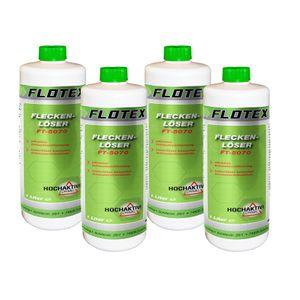 Flotex Fleckenlöser, 4 x 1L Fleckentferner Fleckenwasser Fleckenentferner Textilreiniger