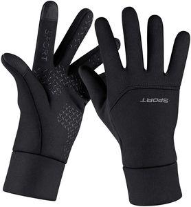 Handschuhe Damen Herren Winter Fahrradhandschuhe Touchscreen Leichte Elastische Sporthandschuhe Winddichte rutschfest Trainingshandschuhe zum Radfahren Laufen Fitness Camping Wandern, XL