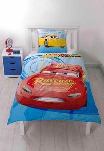 Disney Pixar CARS 3 2tlg. Bettwäsche wendbar 140x200cm Kopfbezug 63x60cm 100% Baumwolle