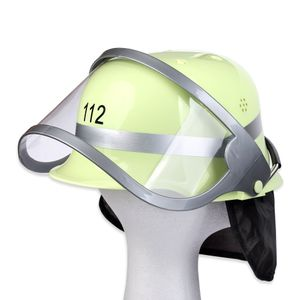 Schramm® Feuerwehrhelm 112 mit klappbarem Visier 29 x 22 x 14 cm Feuerwehr Helm Feuerwehrmann Feuerwehrausrüstung Kostüm Feuerwehrmann