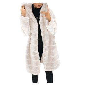 Damen Faux-Fur 'Gilet Langarm Weste Body Warmer Jacke Mantel Outwear Größe:L,Farbe:Beige