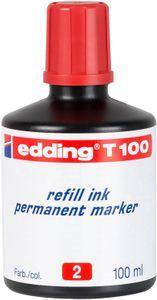 edding Permanentmarker T 100 Nachfülltinte rot 100 ml