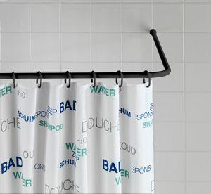Winkelstange Dusche Badewanne-verstellbar schwarz