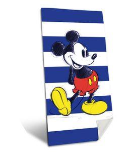 Disney Mickey Mouse - Badehandtuch Badetuch XXL Strandtuch 75x150 gestreift