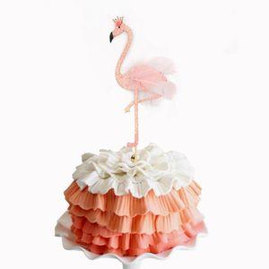 Flamingo Torte Topper Cupcake Stäbchen Cupcake Tortenstecker Essen Topper Obst Topper für Dekoration, 5 Stück