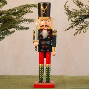 Nussknacker Soldat Marionette Weihnachten 30CM Weinkabinett Dekoration CZZ201013003GN