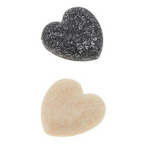 2 Stück Herz Form Haarwaschseife Haarseife Shampooseife Blockseife Handgemachte Seife für Haare Anti-Schuppen, Natürlich und Gesund, 55g
