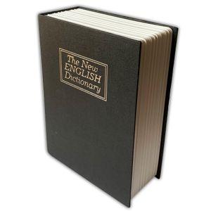 Büchersafe Buchattrappe bordeaux | Geldkassette Buch Attrappe Inkl. Schlüssel | Buchsafe Bücher Safe | Buchtresor Wörterbuch Geheimsafe