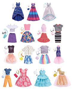 Mattel Barbie FND47 Komplettes Outfit, sortiert