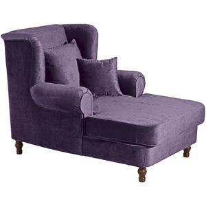 Max Winzer Mareille Big-Sessel inkl. 2x Zierkissen 55x55cm + 40x40cm violett
