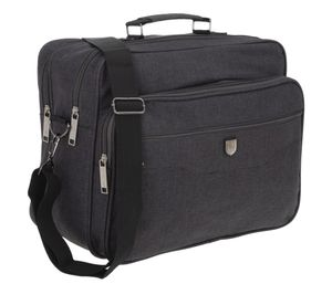 Arbeitstasche Schultertasche Tasche Herren A4 Flugbegleiter Reisetasche Elephant Milano quer  1728 Dunkelgrau + Etui