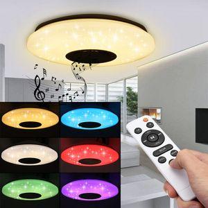60W RGB LED Deckenleuchte Bluetooth Musik Licht Lautsprecher Deckenlampe Remote APP-Steuerung DE Lager