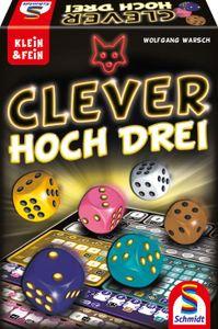 Schmidt Spiele Familienspiel Würfelspiel Clever hoch Drei 49384