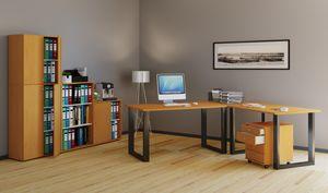 VCM Eckschreibtisch, Schreibtisch, Büromöbel, Computertisch, Winkeltisch, Tisch, Büro, Lona 220x190x80: Buche