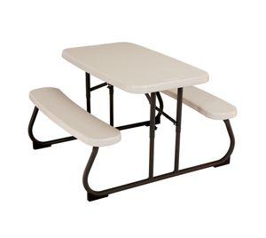 Lifetime Kunststoff Picknickgarnitur 100x86x53 cm sand Sitzgarnitur Kindertisch Kinderspieltisch Klapptisch
