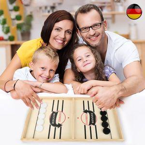 54 cm * 30 cm Tragbar Spieltische,Stoßfänger Schach,Tisch Eishockey , Airhockey Schnelles Sling Puck Spiel,sogoods