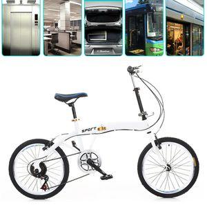 20 Zoll Fahrrad Cityrader Klappfahrrad 7 Gang Faltrad Klapprad Jungenfahrraf Fahrrad Doppel V Bremse (Weiß)