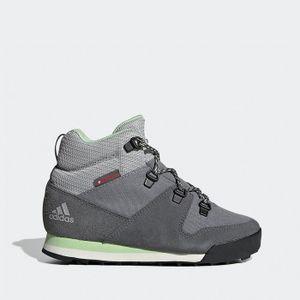 adidas Snowpitch Damen Winterstiefel Schneeschuhe Stiefel Schuhe Grau, Größe:37