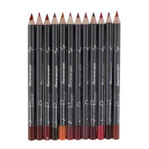 12 Farben Lippenkonturenstifte Wasserdicht und Langlebig