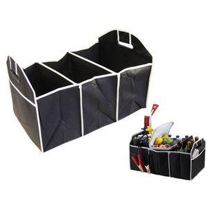 Auto Kofferraum Organizer mit 3 Taschen Klappbar Schwarz