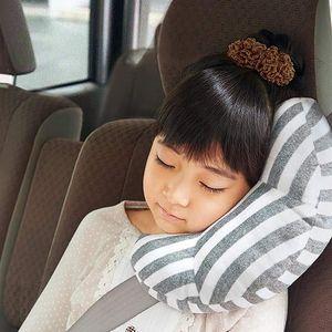 Gurtpolster für Kinder, Auto Schlafkissen, Reise-Nackenkissen Nackenhörnchen, Sicherheitsgurtpolster Sicherheitsgurtpolster für Kinder(Grau)
