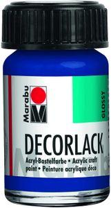 "Marabu Acryllack ""Decorlack"" mittelblau 15 ml im Glas"