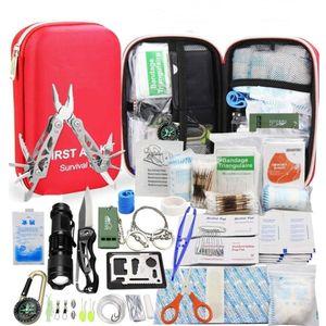 SOS-Notfalltasche 241 Stück / Set Camping-Überlebensausrüstung Outdoor-Ausrüstung Taktisches Werkzeug Erste-Hilfe-Kit Leichtes, vielseitiges, tragbares Gerät